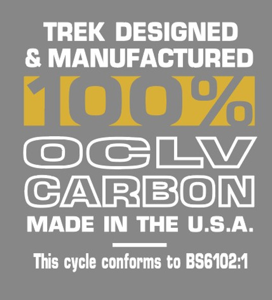 Trek 100% OCLV Carbon Tubing Decal - 1 Pair