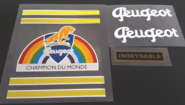 Peugeot 1950s Bicycle Decal Set