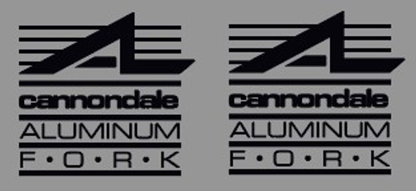 Cannondale Aluminum Fork Tubing Decals - 1 Pair - Choose Color