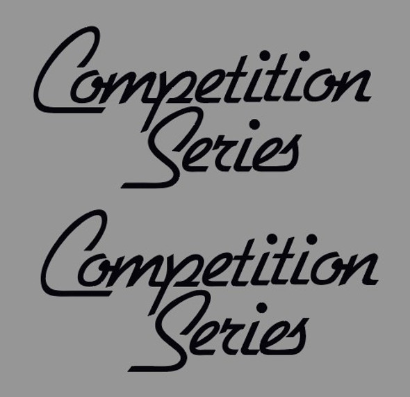 Cannondale Competition Series Top Tube Decals - 1 Pair - Choose Colors