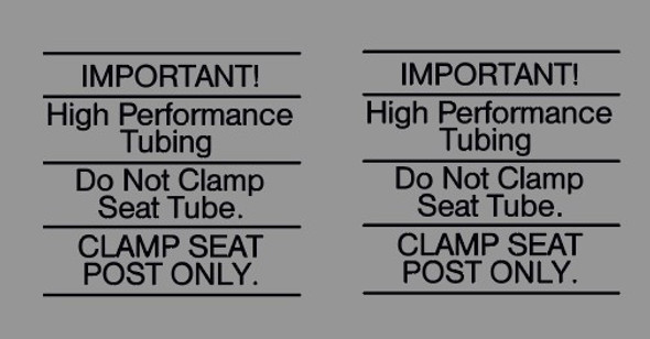Cannondale IMPORTANT High Performance Tubing Decal - 1 pair