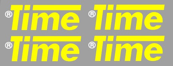 Time Carbon Fork Decals With R - 2 Pair - Choose Color