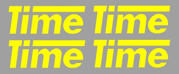 Time Carbon Fork Decals - 2 Pair - Choose Color