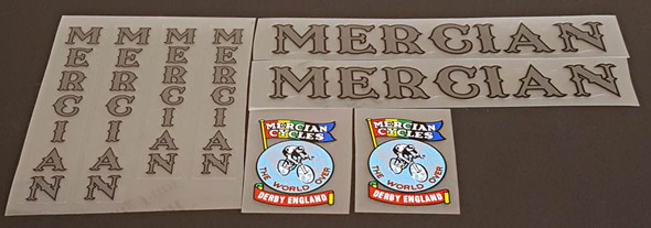 Mercian Bicycle Decal Set - Dark Grey/Black