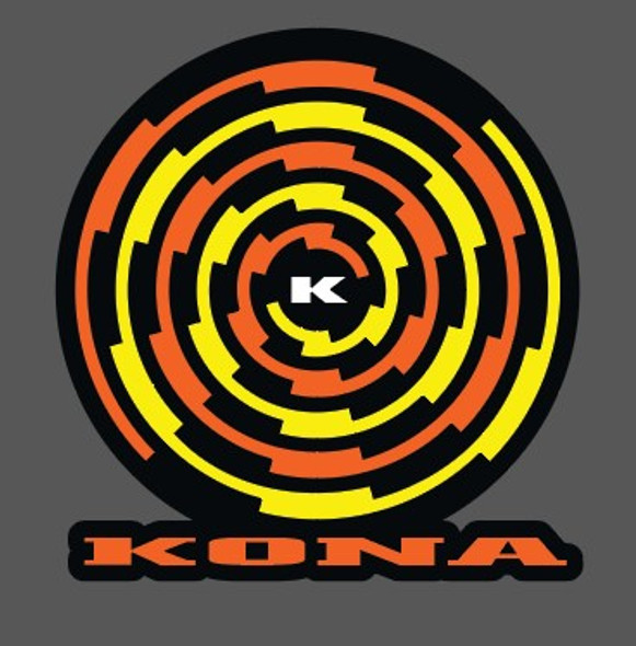 Kona Spiral Head Badge Decal with Heavy Outline- 3 color - Choose Colors