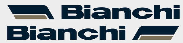 Bianchi Down Tube Decals with 2-color Rounded Flags - 1 Pair - Choose colors