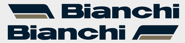 Bianchi Seat Tube Decals with 2-color Rounded Flags - 1 Pair - Choose colors