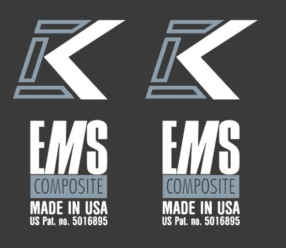Kestrel Italic K EMS Composite Made in USA Fork Decals  - 1 Pair - Choose colors