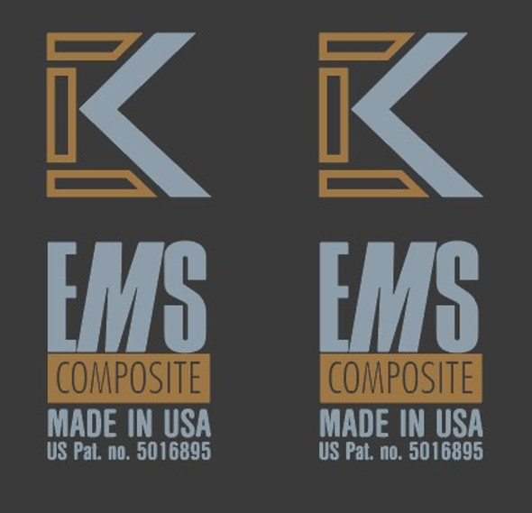Kestrel EMS Composite Made in USA Fork Decals  - 1 Pair - Choose colors