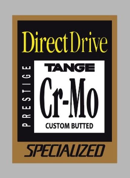 Specialized Direct Drive Tange Custom Butted Cr-Mo Decal - 1 Piece