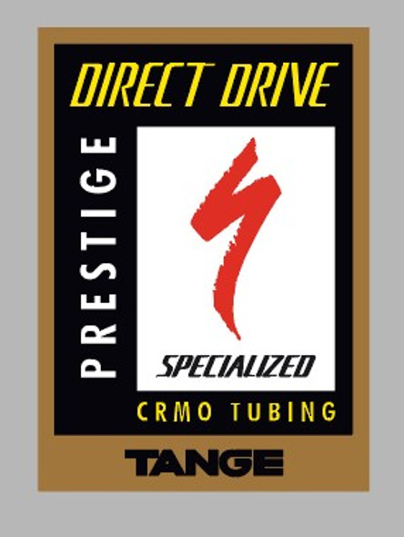 Specialized Direct Drive Prestige Cr-Mo Tubing Decal - 1 Piece