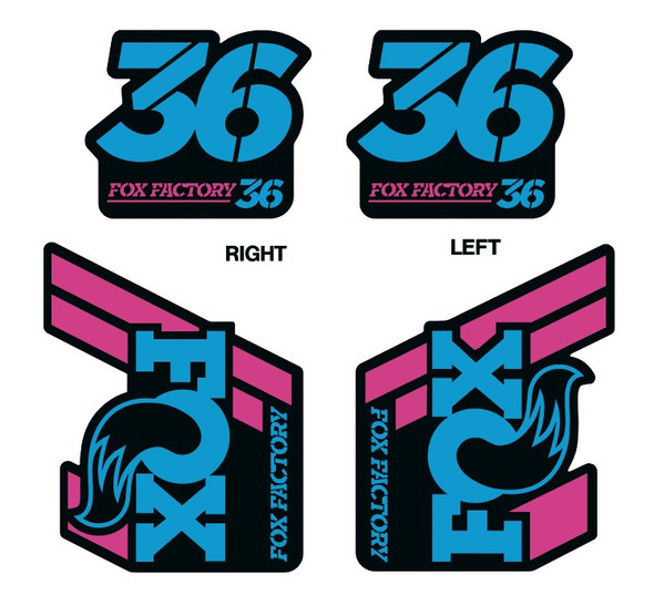 Fox Factory 36 Decals - 1 Set - Choose Colors