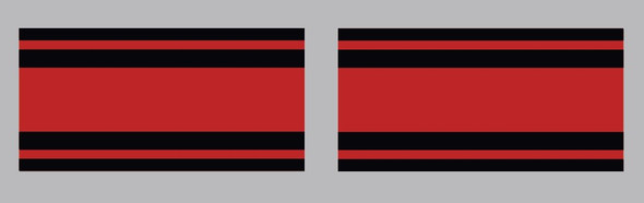 Fuji BMX Seat Stay Stripes Decals - 1 Pair - Choose Colors