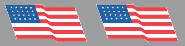 Specialized Waving USA Flag Decals - 1 Pair