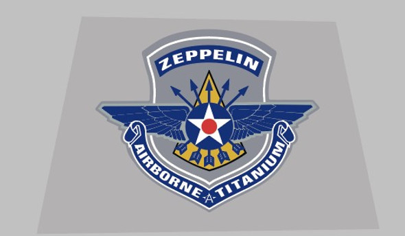 Airborne Zeppelin Seat Tube Badge Decal - 1 Piece
