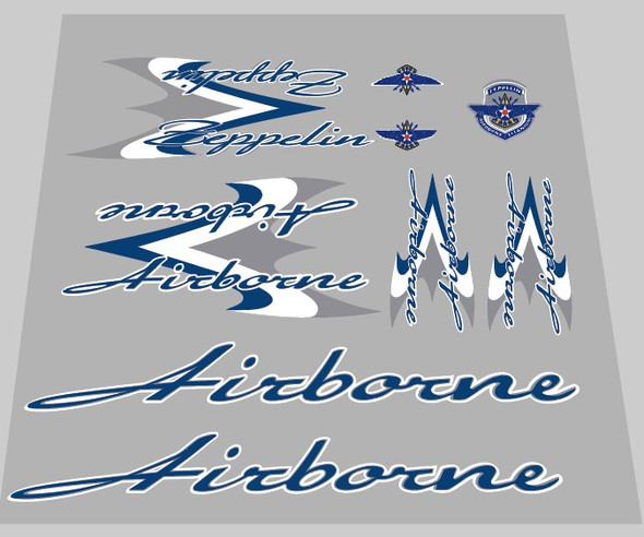 Airborne Zeppelin Wrap Bicycle Decal Set