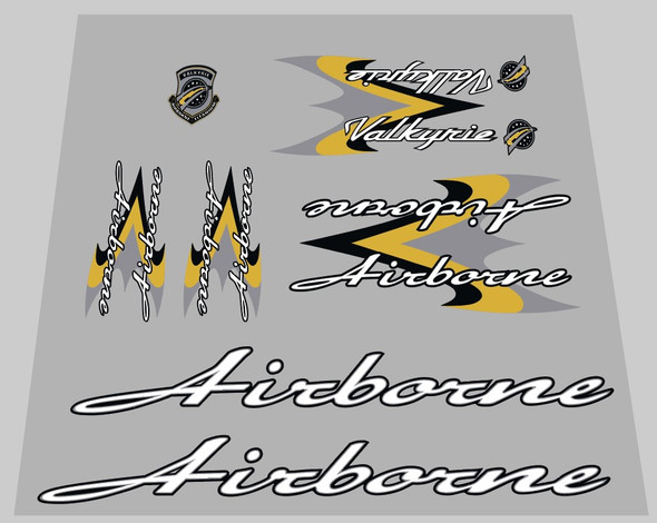 Airborne Valkyrie Wrap Bicycle Decal Set