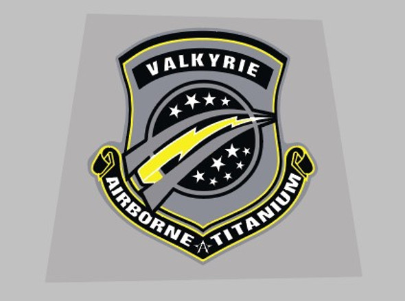 Airborne Valkyrie Seat Tube Badge Decal - 1 Piece