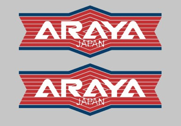 Araya Japan Stripe Bicycle Rim Decals - 1 Pair