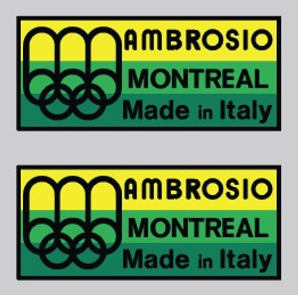 Ambrosio Montreal Made in Italy Wheel Decal-1 Pair