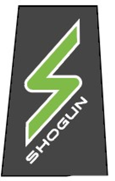 Shogun S Bicycle Head Badge Decal with outline - 1 Piece- Choose Colors
