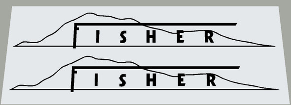 Gary Fisher Thin Mountain Bicycle Down Tube Decals - 1 Pair - Choose color
