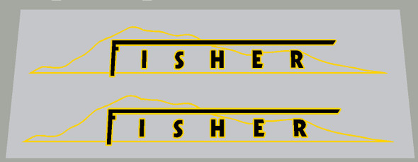 Gary Fisher Thin Mountain Bicycle Down Tube Decals 2 colors - 1 Pair - Choose colors