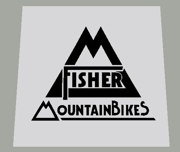 Gary Fisher Mountain Bikes Seat Tube / Head Badge Decal -1 Piece- Choose color