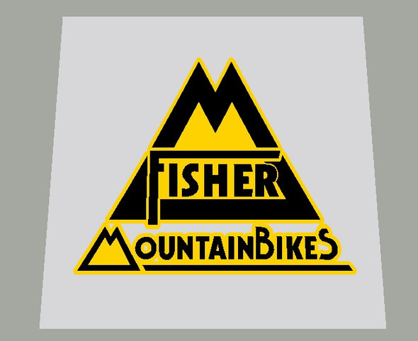 Gary Fisher Mountain Bikes Seat Tube / Head Badge Decal 2 colors-1 Piece- Choose colors