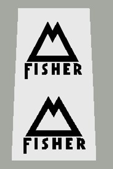 Gary Fisher Bicycle M Fork Decals - 1 Pair - Choose color