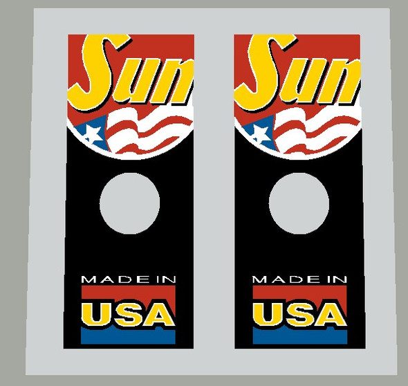 Sun Made in USA Wheel Decal - 1 Pair