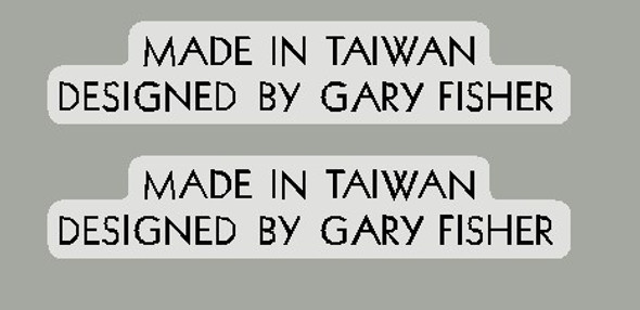 Made in Taiwan Designed by Gary Fisher - 1 Pair - Choose color