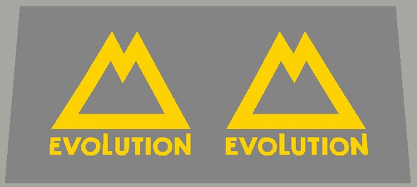 Gary Fisher Bicycle Evolution M Fork Decals - 1 Pair - Choose color