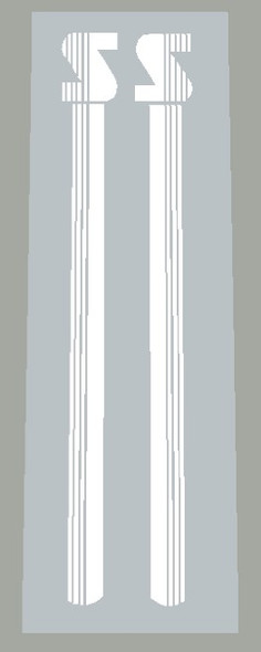 Schwinn Seat Tube Decals with Stripes - 1 Pair - Choose Color