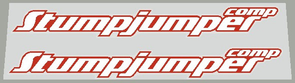 Specialized  2000's Stumpjumper Comp Top Tube Decals With Heavy Outline - 1 Pair - Choice of Color