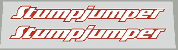 Specialized  2000's Stumpjumper  Top Tube Decals With Heavy Outline - 1 Pair - Choice of Color