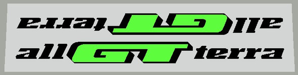 GT All Terra Downtube Decals - 1 Pair - Choose Colors