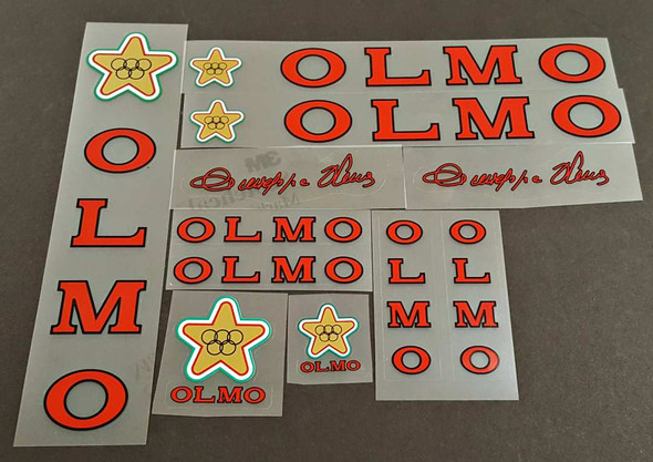Olmo 1980s Bicycle Decal Set - Red