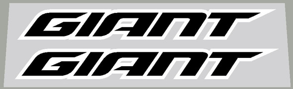 Giant Downtube 2018+ Decals with outline - 1 Pair - Choose Colors