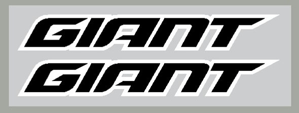 Giant 2018+ Headbadge/Seat Tube Decals with outline - 1 Pair - Choose Colors