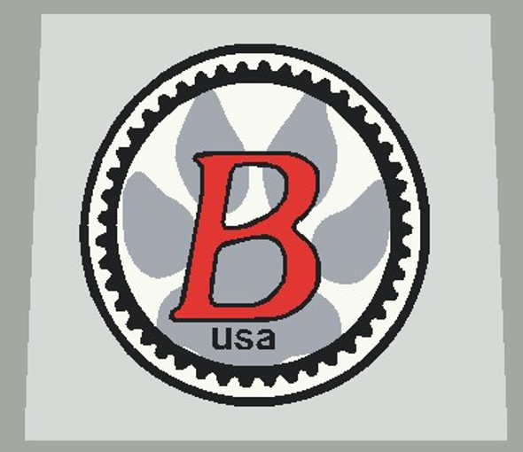 Bontrager Head Badge Decal w/Gear and Outline - Choose Colors