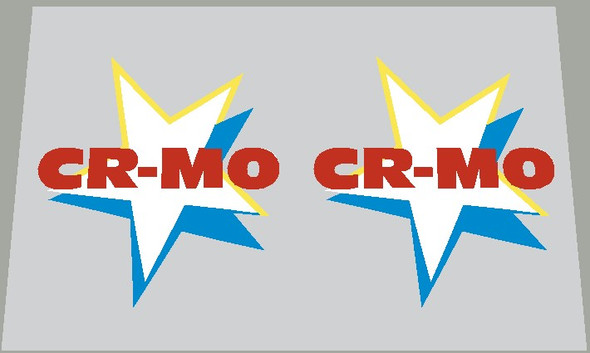 Ross CR-MO Stars Seat Tube Decals - 1 Pair
