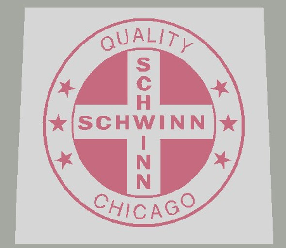 Schwinn American Quality Chicago Seat Tube Decal in Rose Color - 1 Piece