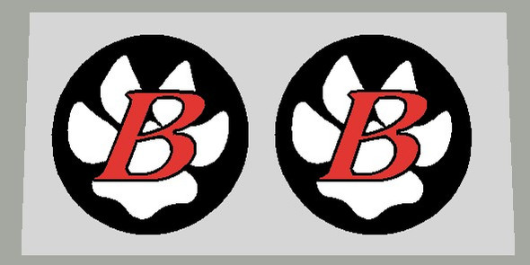 Bontrager Italic B Fork Brace Decal Small- 1 Pair - Choose Colors