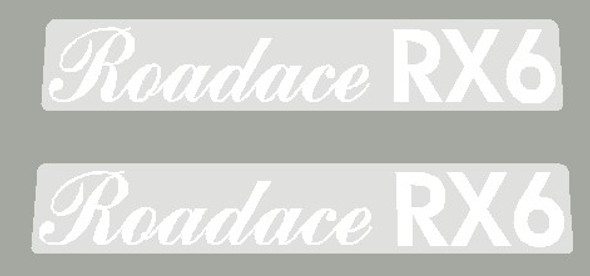 Maruishi 1980's Roadace RX6 Top Tube Decals - 1 Pair - Choose Color