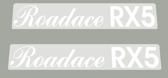 Maruishi 1980's Roadace RX5 Top Tube Decals - 1 Pair - Choose Color