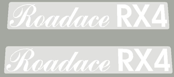 Maruishi 1980's Roadace RX4 Top Tube Decals - 1 Pair - Choose Color