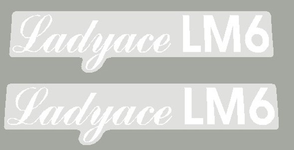 Maruishi 1980's Ladyace LM6 Top Tube Decals - 1 Pair - Choose Color