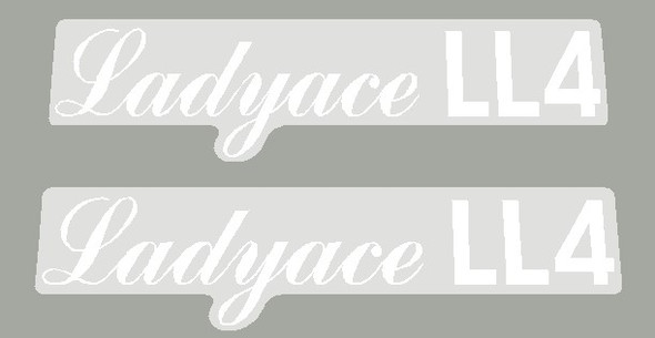 Maruishi 1980's Ladyace LL4 Top Tube Decals - 1 Pair - Choose Color