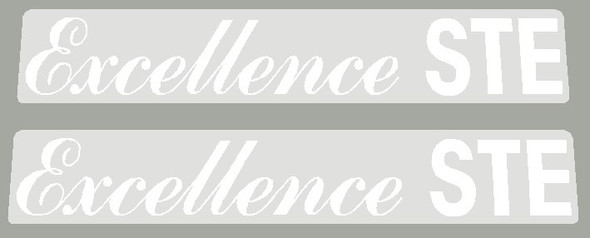 Maruishi 1980's Excellence STE Top Tube Decals - 1 Pair - Choose Color